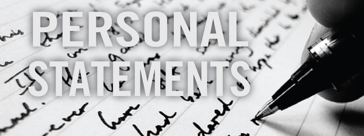 Writing personal statement is a part of the application process when entering a college.